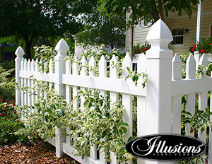 401-4 POINTED TOP PICKET FENCE